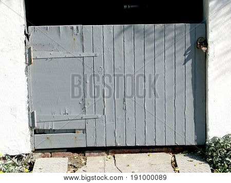 OLD GREY, RUSTIC, PANELED BARN DOOR 24cfh