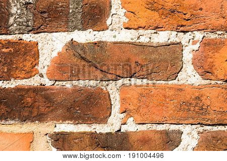 close-up of a red-brick exterior wall - for background purposes