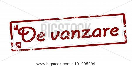 Stamp with text for sale inside vector illustration