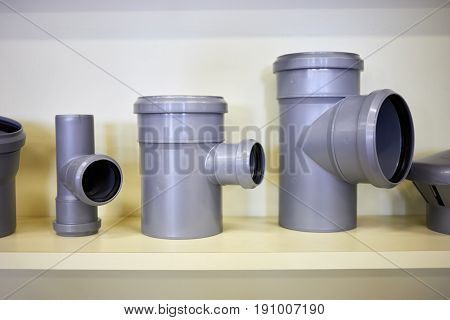 Fittings for plastic piping system.