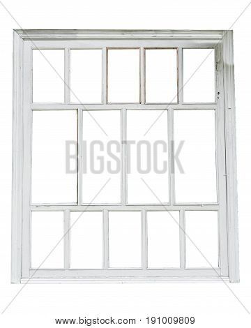 white window isolated on a white background white