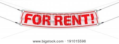 For rent! Advertising banner with inscriptions