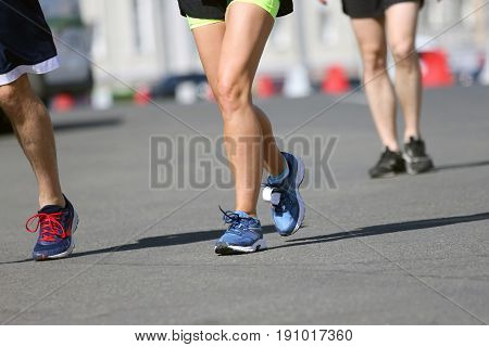 the a legs running athletes on the course