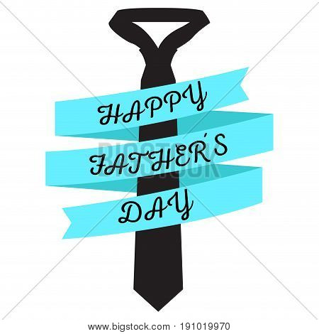 Isolated necktie with a ribbon, Father day  Vector illustration