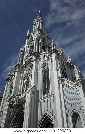 The gothic Ermita Church in Cali Colombia