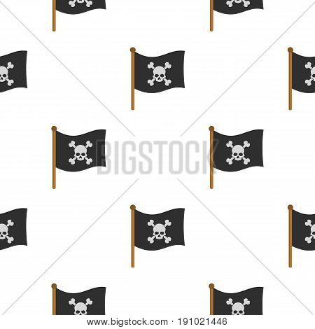 Pirate flag pattern seamless flat style for web vector illustration