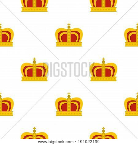 Monarchy crown pattern seamless flat style for web vector illustration