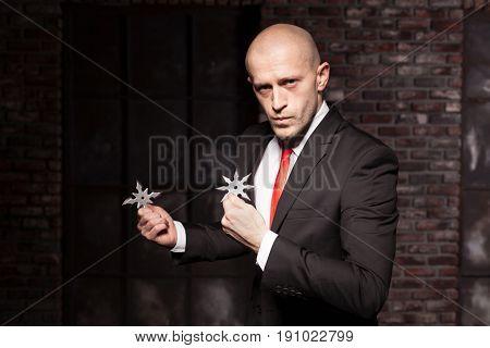 Secret agent explore oriental martial arts concept