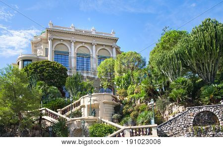 Monaco, Monte Carlo - September 17, 2016: Buddha Bar, luxury bar locates on the back of the Grand Casing Monte Carlo