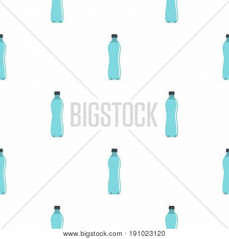 Water bottle pattern seamless flat style for web vector illustration