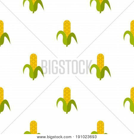 Ripe corncob pattern seamless flat style for web vector illustration