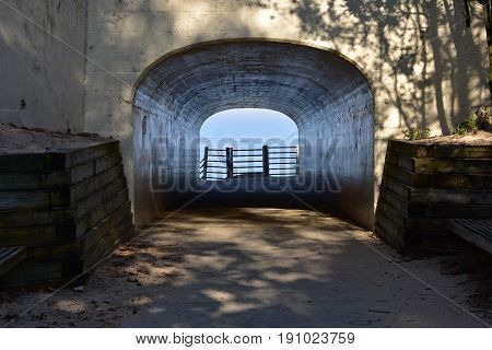 Views of Lake Michigan through Tunnel - This photo was taken in Holland Michigan