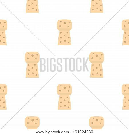 Wine wooden cork pattern seamless flat style for web vector illustration