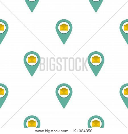 Geo tag mail pattern seamless flat style for web vector illustration