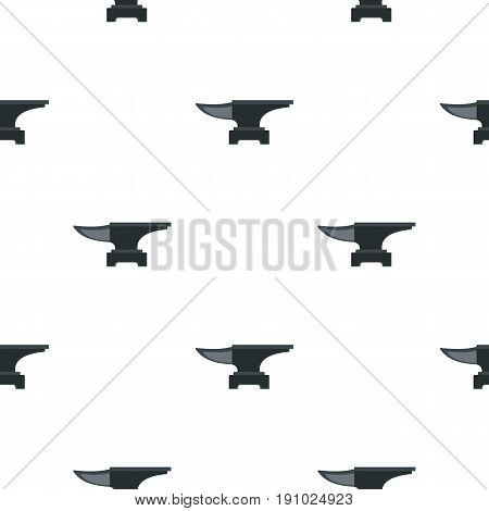 Heavy black metal anvil pattern seamless flat style for web vector illustration