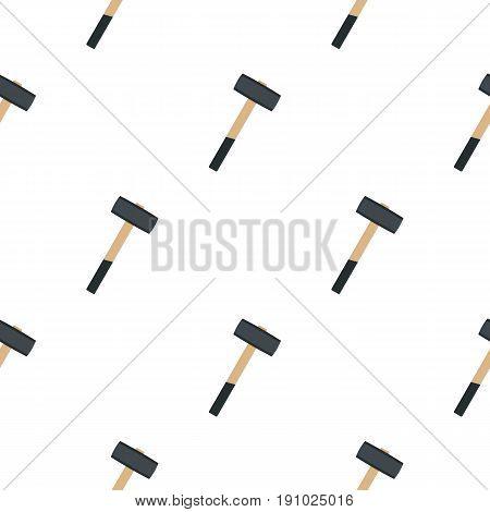 Sledgehammer pattern seamless flat style for web vector illustration