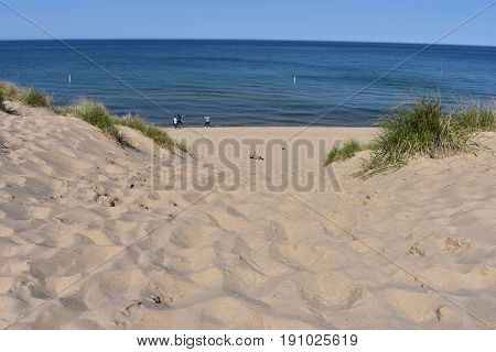 Tunnel Park White Sand Beach - This photo was taken in Holland Michigan