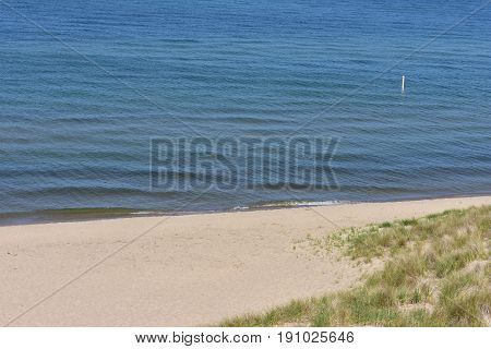 Sandy Beach along Lake Michigan - This photo was taken in Holland Michigan
