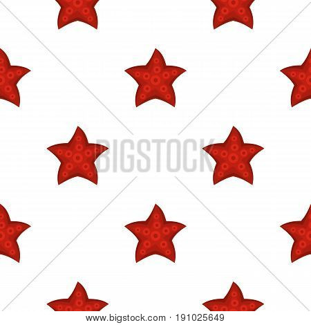 Red starfish pattern seamless flat style for web vector illustration