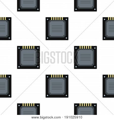 Modern multicore CPU pattern seamless flat style for web vector illustration