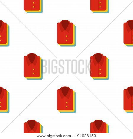 Stack of clothing pattern seamless flat style for web vector illustration