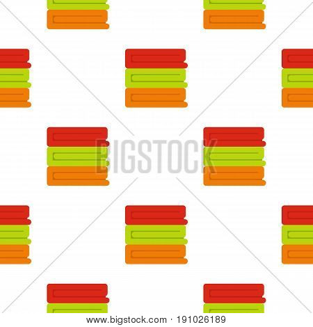 Stack of colored towels pattern seamless flat style for web vector illustration