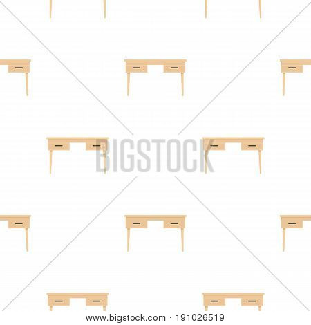 Wooden table pattern seamless flat style for web vector illustration