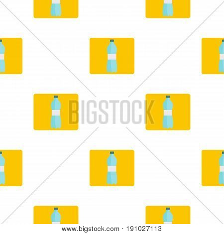 Bottle of water pattern seamless flat style for web vector illustration