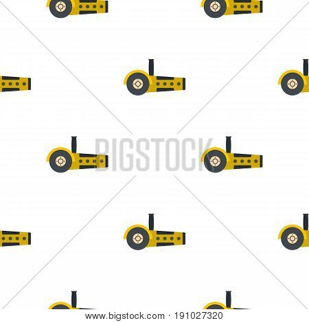 Yellow circular saw pattern seamless flat style for web vector illustration
