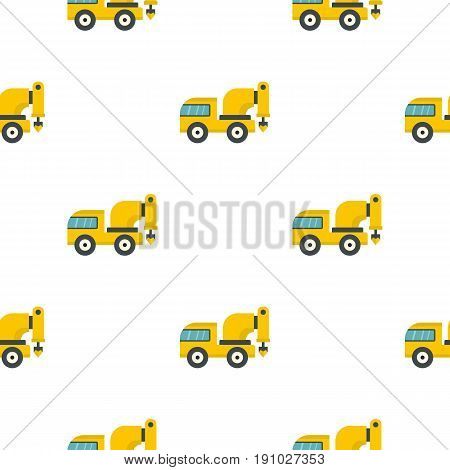 Yellow drilling machine pattern seamless flat style for web vector illustration
