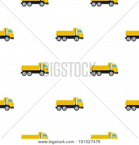 Dumper truck pattern seamless flat style for web vector illustration