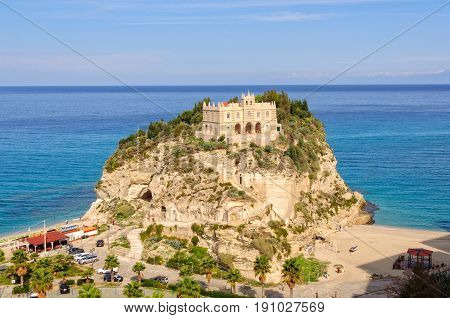 A former 4th century monastery on top of the Sanctuary of Santa Maria Island - Tropea Calabria Italy