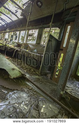 Interior Of Wrecked Commuter Car