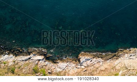 Bird's Eye View of Beach for background