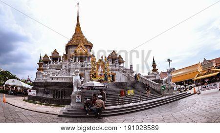 Bangkok - May 24: Golden Buddha Temple Names Wat Traimitr And Pra Maha Mondop, Very Important And Be