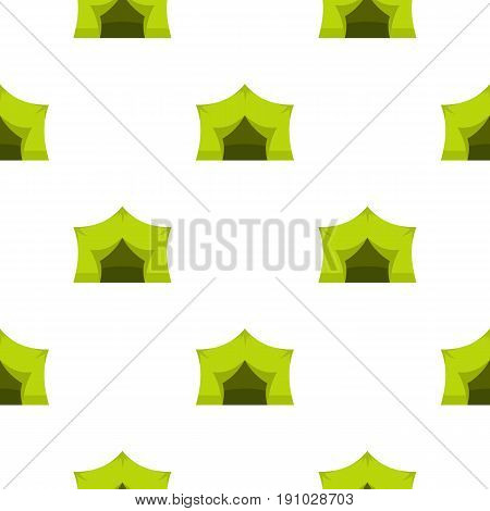 Camping equipment pattern seamless flat style for web vector illustration