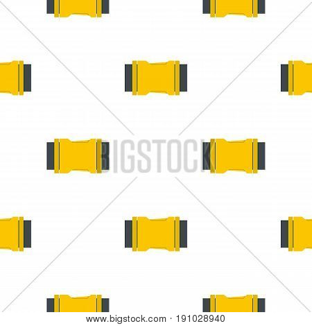 Yellow Side release buckle pattern seamless flat style for web vector illustration
