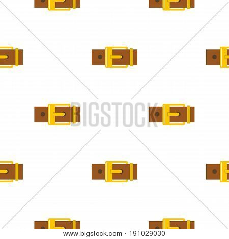 Belt with yellow square buckle pattern seamless flat style for web vector illustration