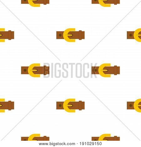 Brown elegant leather trousers belt pattern seamless flat style for web vector illustration