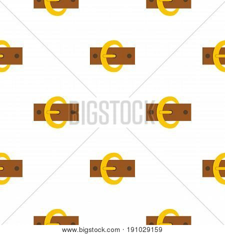 Gold oval buckle pattern seamless flat style for web vector illustration