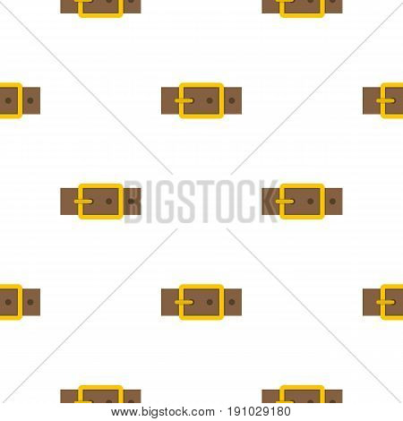 Gold square buckle pattern seamless flat style for web vector illustration