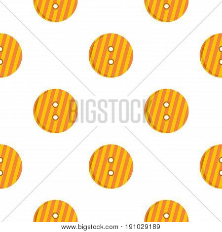 Striped orange and yellow clothing button pattern seamless flat style for web vector illustration