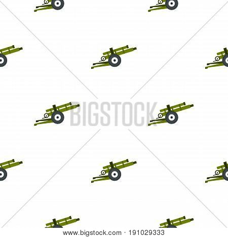 Artillery gun pattern seamless flat style for web vector illustration