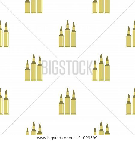 Bullet ammunition pattern seamless flat style for web vector illustration