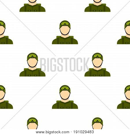 Military paratrooper pattern seamless flat style for web vector illustration