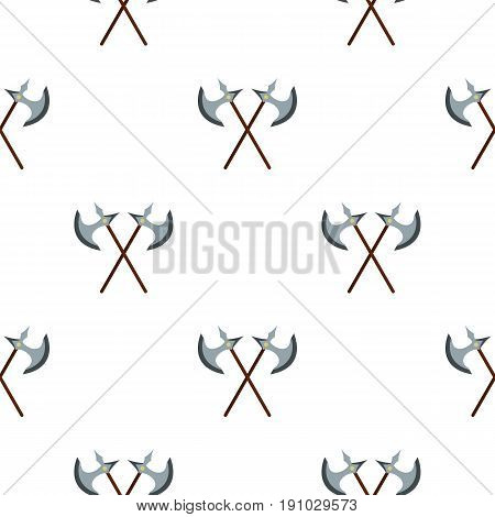 Medieval battle axe pattern seamless flat style for web vector illustration