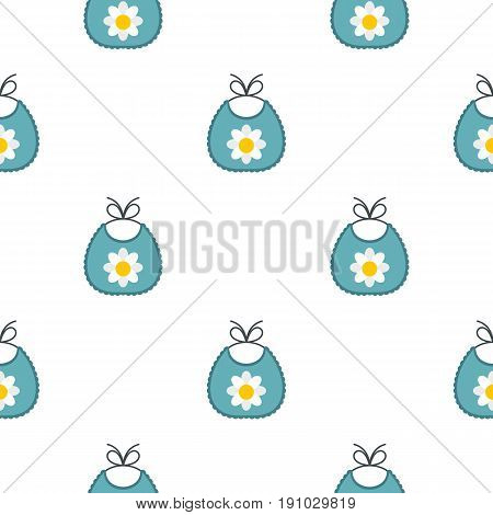 Baby bib pattern seamless flat style for web vector illustration