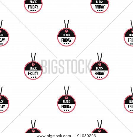 Black Friday sale tag pattern seamless flat style for web vector illustration