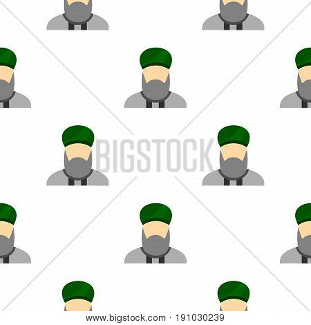 Islamic priest pattern seamless flat style for web vector illustration