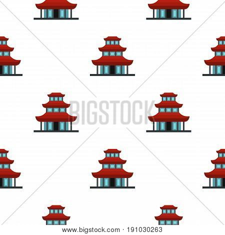 Buddhist temple pattern seamless flat style for web vector illustration
